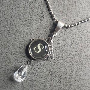 Jewelry - Alphabet initial S Typewriter charm necklace